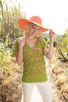 Palm Crochet Motif Tunic