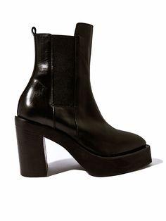 Yang Li Womens Platform Chelsea Boots