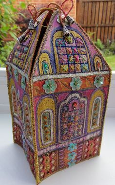 beautiful work by The Craft Magpie Mixed Media House Box Made to Order by Thecraftmagpie on Etsy
