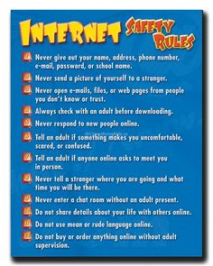 Internet Safety Tips For Kids - Click Here to view more - http://www.everythingkids.co/internet-safety-tips-for-kids/