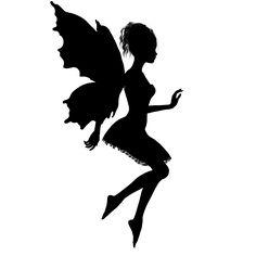 Fairy Silhouette Vector Art Related Keywords & Suggestions - Fairy ...
