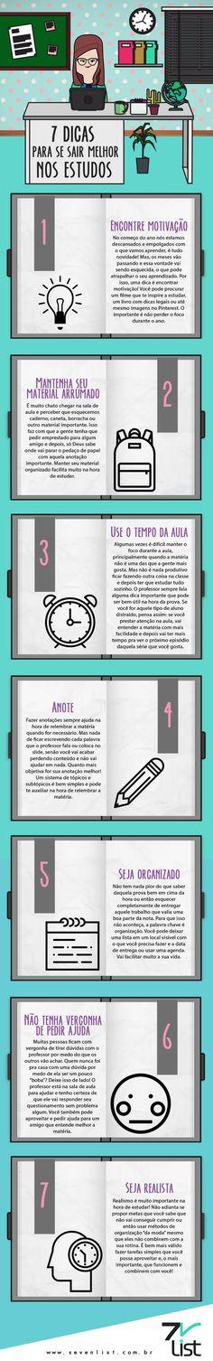Se você é estudante e prometeu esse ano ser um aluno melhor, esse post é para você. Confira 7 dicas para ir melhor nos estudos.