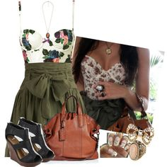If I could have this outfit I would be a very happy camper. But I would not go camping in it.