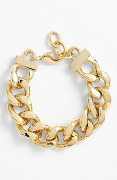 Nordstrom Large Curb Link Bracelet available at #Nordstrom $28 in Silver and Gold