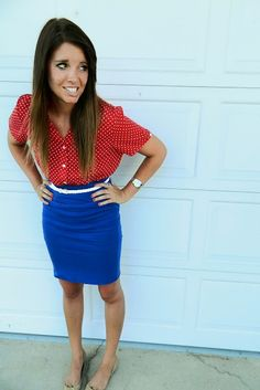 26 Amazing Outfit Ideas for 4th of July (i have to work this year, so this will do...)