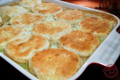 comfortable food - homemade chicken & biscuits recipe