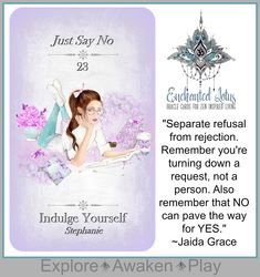 Enchanted Lotus - 45 Oracle Cards for Zen Inspired Living Page Printed Book (plus a bonus 124 page Ebook! Just Say No, Oracle Cards, Decks, Enchanted, Awakening, Tarot, Lotus, Poppies, Affirmations