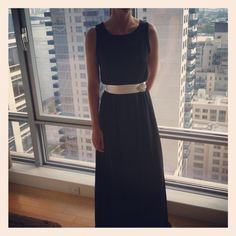The black tie dress