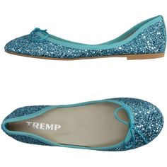 Tremp Ballet Flats ($55) ❤ liked on Polyvore featuring shoes, flats, turquoise, bow ballet flats, glitter shoes, glitter ballet shoes, glitter flats and skimmer flats