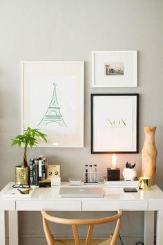 bureau design, petit bureau pour une personne design contemporain