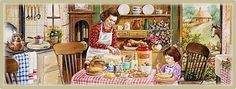 Facebook Covers ~~ Helping Mom in the Kitchen ~~ Susan Brabeau