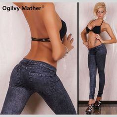 Cheap denim leggings, Buy Quality legging casual directly from China sexy legging pants Suppliers: Spring Summer 2017 Frosted Skinny Jeans Lady Seamless Elastic Denim Leggings Casual Fitness Popular Sexy Slim Pants 8184 Jeggings, Denim Leggings, Leggings Mode, Jeans Denim, Leggings Fashion, Fashion Pants, Leggings Are Not Pants, Jeans Pants, Trousers