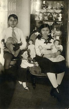 1935. With dolls and teddybear by Elinor04 | Flickr - Photo Sharing!
