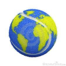 .#tennisart | globe tennis ball | earth | world