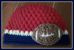 NY Giants Football Hat  Red by KnittingLove4U on Etsy, $12.00