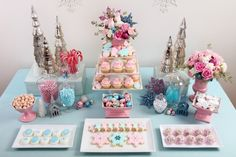 pastel christmas, hmmm? thinking I like it, use easter decor and turn it into christmas