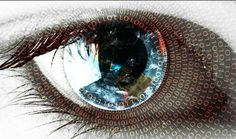 Windows 10 Wallpaper with Abstract Binary Numbers on Eye Microsoft, Windows 10 Wallpapers, Windows Wallpaper, Wallpaper Downloads, Hd Wallpaper, Desktop Wallpapers, Eye Illustration, Realistic Eye, High Resolution Wallpapers