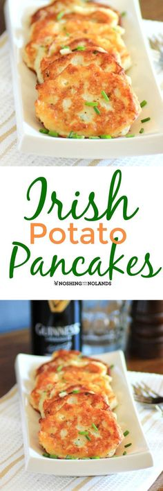 Irish Potato Pancakes by Noshing With The Nolands are crispy on the outside and soft and creamy on the inside. A family favorite!