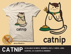 Catnip shirt. no way. gonna have to add this to my fast growing wish-list of Hunger games merchandise