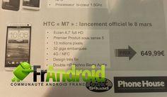 HTC M7, il prossimo superphone di HTC, potrebbe essere venduto già dall'8 Marzo ad un prezzo di 650€.