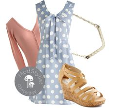 """""""Cumulus Laude Dress"""" by modcloth ❤ liked on Polyvore"""