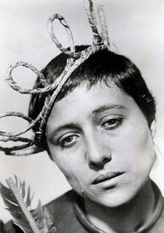 Joan of Arc: The silent and resilient catholic saint questions her faith as she prepares to burn at the stake at the end of her unjust trial. (The Passion of Joan of Arc, 1928, Carl Dreyer, portrayed by Maria Falconetti)