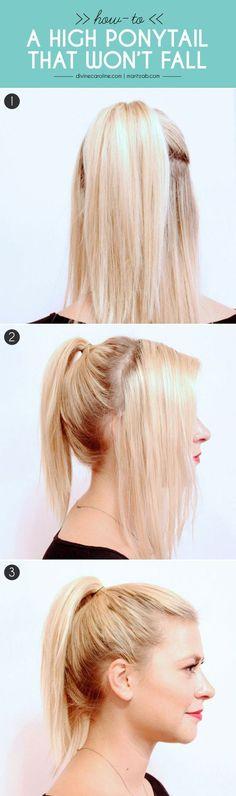Aquí tienes una buena técnica para poner a todas esas pequeñas mechas de cabello en tu cola de caballo. | 27 consejos y trucos para lograr hacer una cola de caballo perfecta