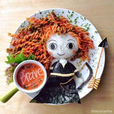 Disney food art par Samantha Lee : Merida