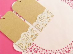 doiley Gift Tags via Etsy.