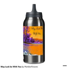 May Luck be With You 10 Oz Insulated SIGG Thermos Water Bottle #insulated #thermos #water #bottle #luck #scenery