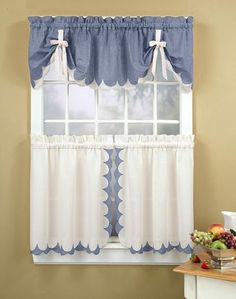 Kitchen window can face light, heat, or direct rain. Besides that, we need style our kitchen window. Of course, kitchen curtain ideas is the best treatment. Valance Curtains, Window Decor, Cute Curtains, Curtains, Curtain Decor, Cafe Curtains, Kitchen Window Curtains, Home Decor, Curtain Styles