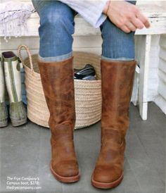 Frye boots, love how casual the campus boot is and it's a mid hight cute!