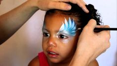 #faceNbodyPaint Angel Face Paint Tutorial - teaches you how to use a square brush