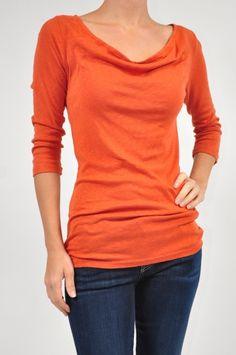 Michael Stars Marmalade Luxe Slub Drape Neck $54 www.shopmapel.com