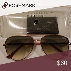 8904ba15105 Quay X Desi Perkins High Key Mini Sunglasses New never been worn Aviators  style sunglasses Rose