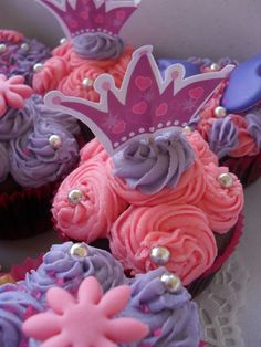 Haven't tried it yet, but I think someone will be getting them soon! 4th Birthday Parties, Birthday Fun, Birthday Ideas, Beautiful Cupcakes, Cute Cupcakes, Twin First Birthday, Cupcake Cakes, Cupcake Ideas, Princess Cupcakes