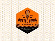 Bottle logic logo shield