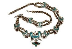 Navajo Sterling & turquoise Necklace-amazing