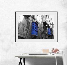 "Blue-Black Terrace,Balcony MALTA photo, digital prints XXL 19,6""x12,9"",instant download, art, wall decor, digital print, office and home. by KrisztinARTDesign on Etsy Malta, Balcony, Terrace, Digital Prints, Wall Decor, Handmade Gifts, Blue, Etsy, Vintage"