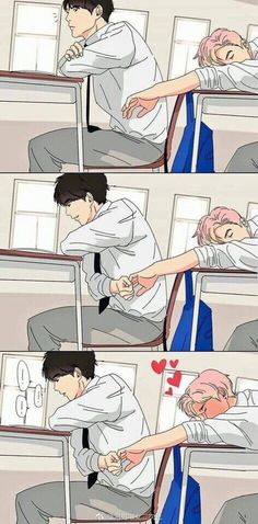 I don't actually know what ship this is but it's too darn cute Boys Anime, Manga Anime, Cute Gay Couples, Anime Couples, Gay Mignon, Lgbt Anime, Ai No Kusabi, Gay Comics, Lgbt Love
