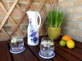 Jarro para Limonada, Sangria, Vinho, Chá gelado, Sumo, pintada à mão        Dimensões:    28cm altura x10cm de diâmetro