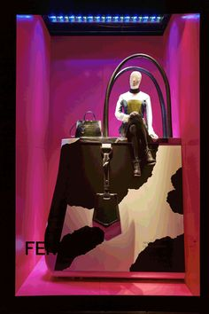 Harrods~Fendi Window display
