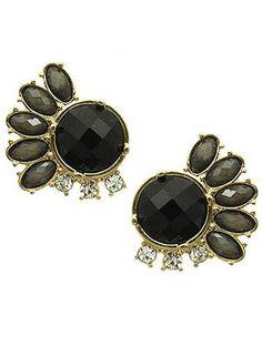 Black Multi-Jewel Gem Earrings from Helen's Jewels