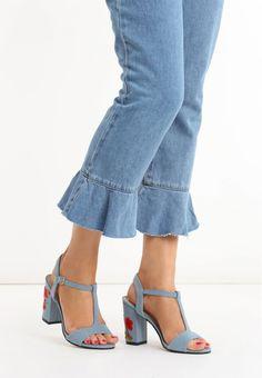 Sandale dama Florence Lt blue