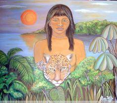 dibujo.retrato de mujer guarani - Buscar con Google