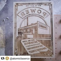 #madeinCanada 🇨🇦 on a Trotec laser. Thanks for sharing @atomiclaserco , this laser engraved wooden plate for a poster press looks incredible! 👏😍 . . . #platepress #laserengraved #laserengraving #laseretched #laseretching #lasercutting #lasercut #rayjet #trotec #giftideas #gifts #technology #business #b2b #custom #custommade #lasercutter #laserengraver #design #art #entrepreneur #buildsomething #inspiration #personalizedgifts #woodenprint #printingpress #printmaking #calledtocreate