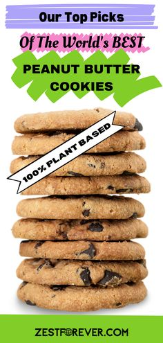 Do you love peanut butter AND cookies? If so, then our pick of the World's best peanut butter cookie recipes will have you salivating. These plant based and vegan cookies are healthy, family friendly, and best of all FAST & EASY just like all of ZestForever's delicious recipes. A healthy cookie is great for all occasions, be it beakfast, snacks, dessert, or a pre and post workout fuel. Also, super simple and transportable for busy mornings to just grab and go! Vegan Banana Cookies, Healthy Vegan Cookies, Banana Breakfast Cookie, Homemade Peanut Butter Cookies, Peanut Butter Protein Cookies, Vegan Cookie Dough, Healthy Peanut Butter, Peanut Butter Cookie Recipe, Peanut Butter Recipes