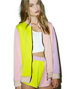 c73710592981 O Mighty The Pastel Bomber Jacket cuz yer just da sweetest lil thang. This  adorbz bomber jacket is xtra precious