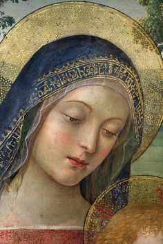 Pinturicchio - Madonna of Peace. Detail. 1490