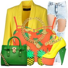 Pretty Pineapple Pt. 5, created by nenedopesauce on Polyvore